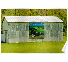Barn - Wild Turkey Mural Poster