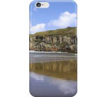 Ballybunion beach and cliffs wth Atlantic waves iPhone Case/Skin