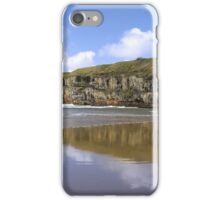 Ballybunion beach and cliffs wth Atlantic waves iPhone Case/Skin