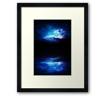 Night Sky and River Framed Print