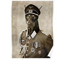 Second War Doberman. Poster