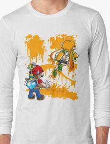 Super Mess - (Orange) Long Sleeve T-Shirt