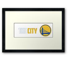 WARRIORS THE CITY Framed Print
