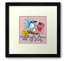 Celebrate For A 4TH Of July Framed Print