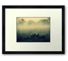 Dreaming of Sheep - JUSTART © Framed Print