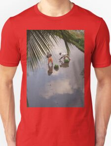 Planting Rice Seedlings under a Cloudy Balinese Sky Unisex T-Shirt