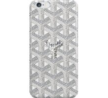 Goyard Perfect Case white iPhone Case/Skin