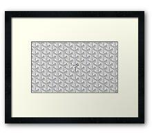 Goyard Perfect Case white Framed Print