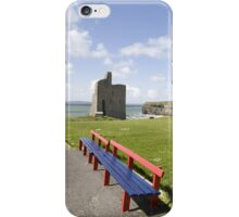benches view of Ballybunion castle beach and cliffs iPhone Case/Skin