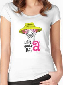head ostrich good life Women's Fitted Scoop T-Shirt