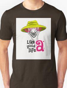 head ostrich good life Unisex T-Shirt