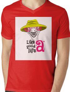head ostrich good life Mens V-Neck T-Shirt