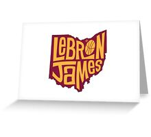lebron the king james Greeting Card