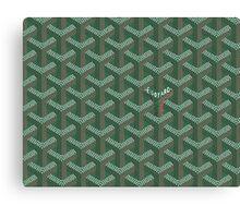 Goyard Perfect Case green Canvas Print