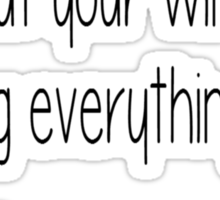 Darling Everything's on Fire -The Hunger Games Sticker