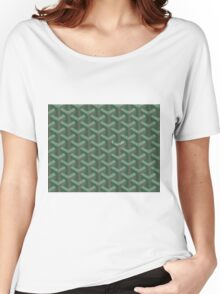Goyard Perfect Case green Women's Relaxed Fit T-Shirt
