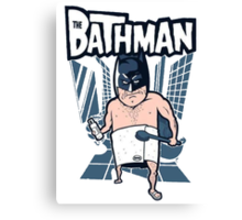The Bathman (Incredible super hero with washing superpowers) Canvas Print