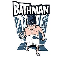 The Bathman (Incredible super hero with washing superpowers) Photographic Print