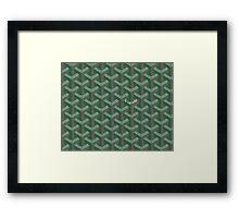 Goyard Perfect Case green Framed Print