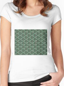Goyard Perfect Case green Women's Fitted Scoop T-Shirt
