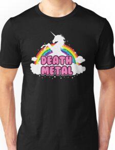 DEATH metal parody funny unicorn rainbow  Unisex T-Shirt