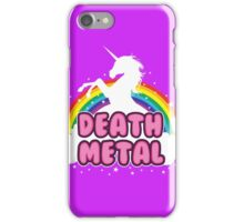 DEATH metal parody funny unicorn rainbow  iPhone Case/Skin