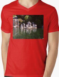 Waterfall At Caserta Mens V-Neck T-Shirt