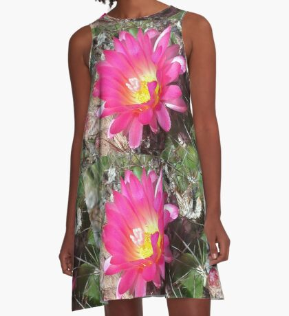 Lovely but Lonely cactus flower A-Line Dress
