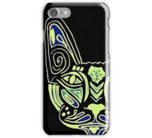Mandala Neon Cat  iPhone Case/Skin