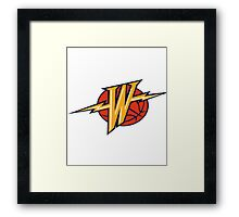 OLDSKOOL WARRIORS LOGO Framed Print