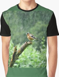 Chaffinch in the Rain Graphic T-Shirt