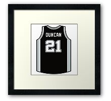DUNCAN IS SPURS Framed Print
