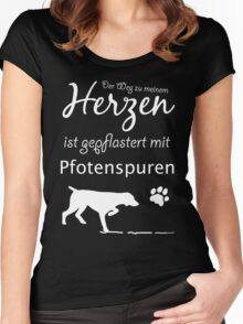 GERMAN PAW TRACKS  Women's Fitted Scoop T-Shirt