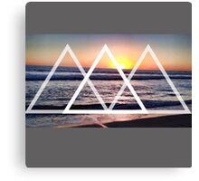 Geometric Sunset Canvas Print