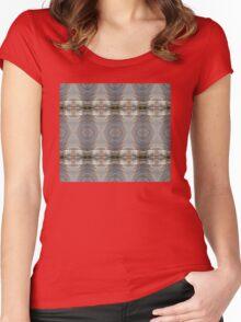 Rainbow Diamonds Pattern Women's Fitted Scoop T-Shirt