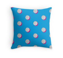 Quirky pattern, spot and pink on blue.  Throw Pillow