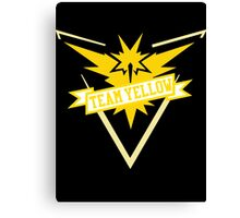 Team Yellow - Pokemon GO Canvas Print