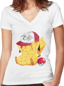 Picaxuu!! Women's Fitted V-Neck T-Shirt