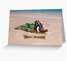Pirates of the Caribbean themed Birthday Card Greeting Card