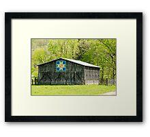 Kentucky Barn Quilt - Eight-Pointed Star Framed Print