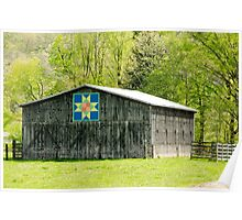 Kentucky Barn Quilt - Eight-Pointed Star Poster