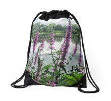 Wild Flowers Drawstring Bag