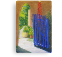 The Blue Gate Canvas Print
