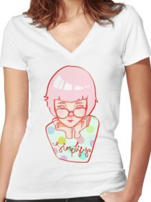 Simplify! Women's Fitted V-Neck T-Shirt