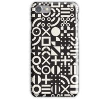 Black and White Irregular Geometric Pattern iPhone Case/Skin