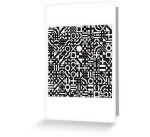 Black and White Irregular Geometric Pattern Greeting Card