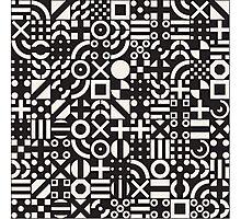Black and White Irregular Geometric Pattern Photographic Print