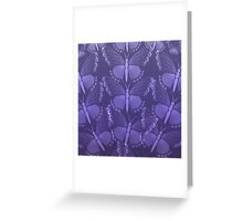 a swarm of purple butterflies Greeting Card