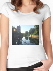 Liable to Flooding Women's Fitted Scoop T-Shirt