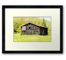 Kentucky Barn Quilt - Flying Geese Framed Print